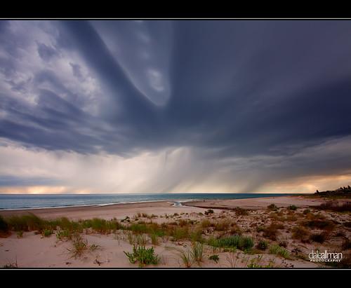 ocean storm rain clouds canon sand australia wideangle explore adelaide southaustralia frontpage 1740 sanddunes henleybeach vertorama canon5dmkii 5dmkii