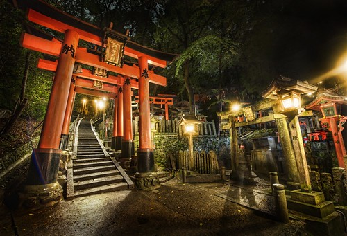 Midnight Adventure in the Japanese Cemetery