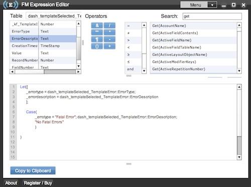 Filemaker edit script text editor