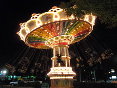 outdoor recreation(0.0), ferris wheel(0.0), park(0.0), recreation(1.0), carousel(1.0), night(1.0), amusement ride(1.0), amusement park(1.0),