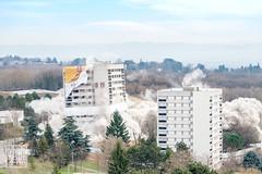 Démolition des Tours Lyautey, La Velette, Rillieux-la-Pape