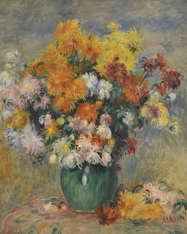 """Rouen (Seine-Maritime) - Musée des Beaux-Arts - """"Bouquet de chrysantèmes """" (Pierre-Auguste Renoir, 1841-1919)"""
