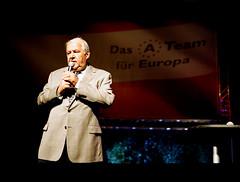 EU-Wahlkampf mit Hannes Swoboda in Wien