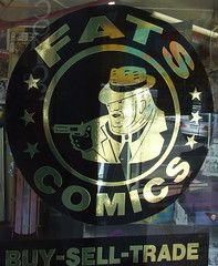 Sign at Fats Comics, Ipswich Rd, Annerley Junction, Brisbane, Queensland, Australia 090617-1