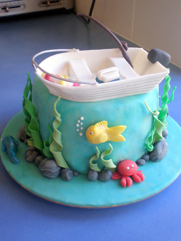 Cake fishing 04 for Fish cake design