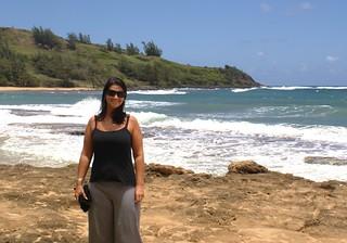 Image of Moloaa Bay Beach. beach honeymoon kauai marika moloaa