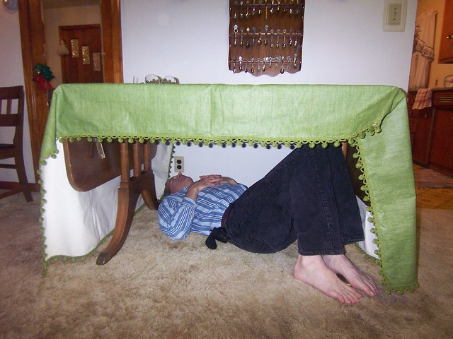 dwight naps under the table