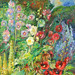 "My grandmother's garden 40"" x 40"" by Anna Gelbert Paintings"