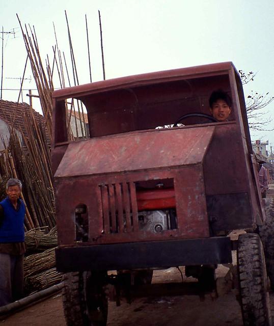 Home made truck near Perfume Pagoda Chua Huong Vietnam