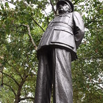 statue of Marshall of the Royal Air Force Sir Arthur Harris