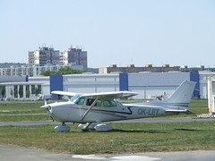 aviation, airplane, propeller driven aircraft, wing, vehicle, cessna 172,