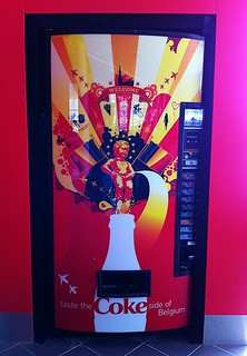 Strange Graphic for a Coke Machine