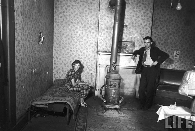 Couple in their single room house, Ohio, 1936, by Carl Mydans