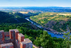 lview from the highest tower of Ch�teau d'Essalois looking down at the Loire