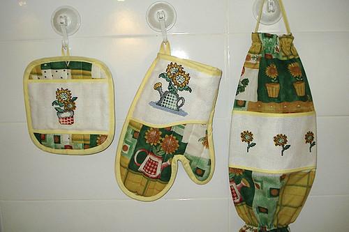 Accesorios de cocina juego de cocina bordado en punto - Accesorios para cocina ...