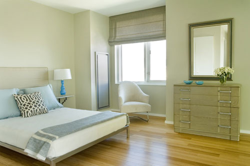 dreamy calm green blue bedroom gray green paint