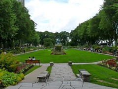 Lush garden in Quebec City