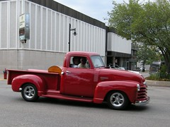 automobile, automotive exterior, pickup truck, vehicle, truck, chevrolet advance design, bumper, land vehicle, motor vehicle,