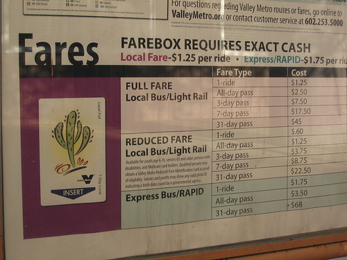 Light Rail Fares