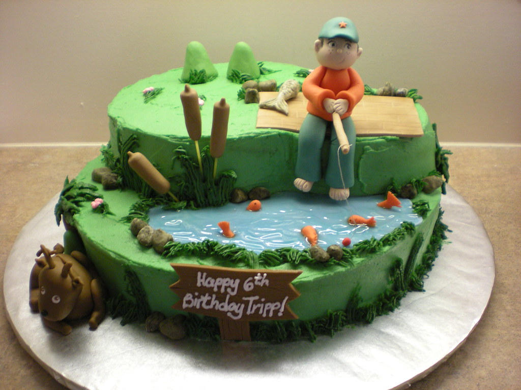 Birthday Cake Design For My Boyfriend : Fishing/hunting cake - a photo on Flickriver
