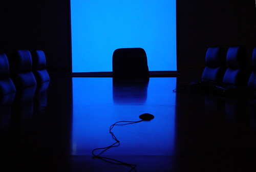 blue board room