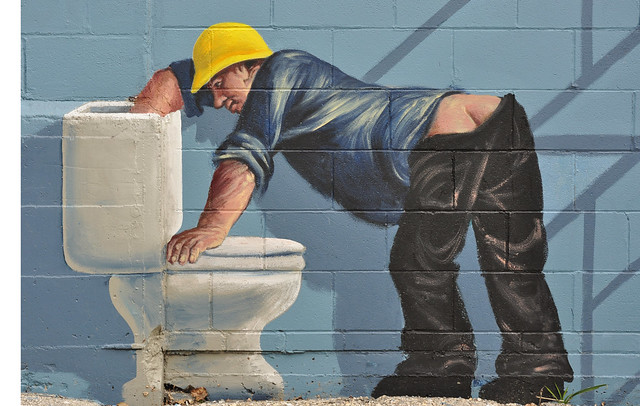 Wall Art:  Fifty Five  (Plumbers Butt)