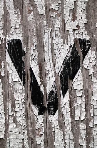 Lowercase Letter v on Plywood (Takoma Park, MD)