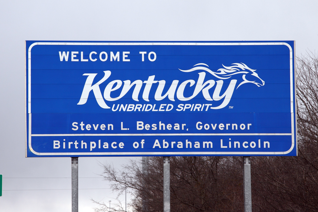 Kentucky Welcome Sign