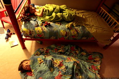 brothers sharing the kids' bedroom for the night