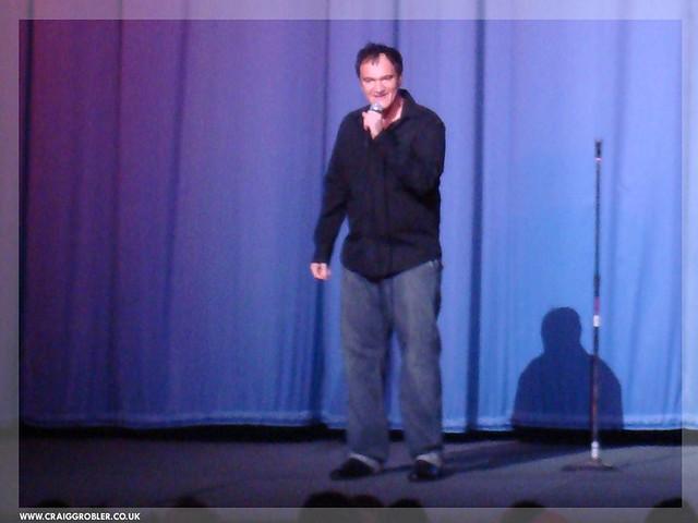 Inglourious Basterds UK Premiere - Quentin Tarantino intoducing Inglourious Basterds