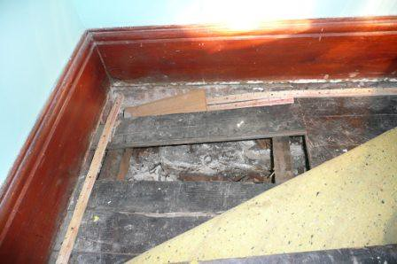 Hidden Floor Damage: True Story. An experienced inspector found uneven floors and pulling back the carpet revealed rotting and collapsing flooring and floor framing. The cost of the inspection $350 &