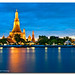 Wat Arun - Gold & Blue by DanielKHC