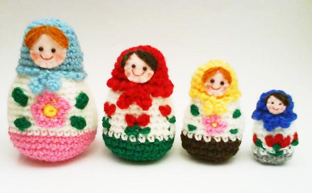 Russian Matryoshka amigurumi babushka Dolls Crochet ...
