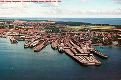 DSB - Nyborg - Harbour for the railwayferries - Postcard
