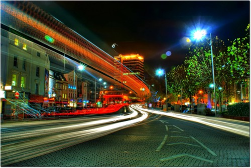 Bristol City Centre at Night (HDR)