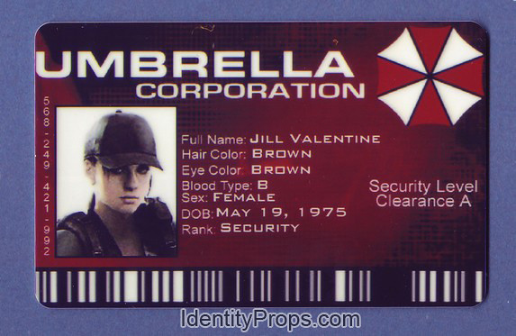 Umbrella corporation ID card by ~zpom on deviantART