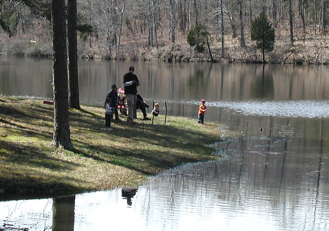 Fishing on Goodwin Lake at Twin Lakes State Park