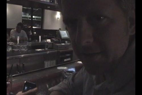 At bar with girlfriend using iShot Machine, iPhone shot recipe app