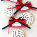 Wrapped Volleyball Cookies