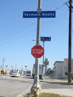 Vermont Knolls with Stop Sign