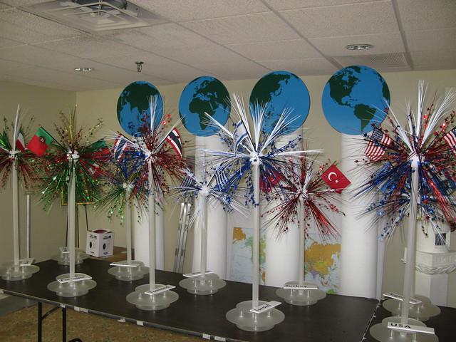 Around the world centerpiece flickr photo sharing for Around the world party decoration ideas