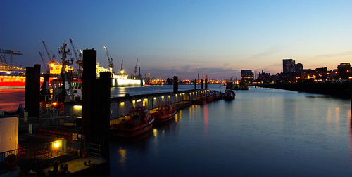 Blue Hour at Hamburg Harbour