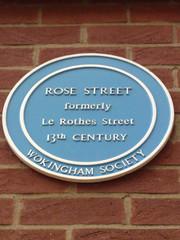 Photo of Rose Street, Wokingham blue plaque