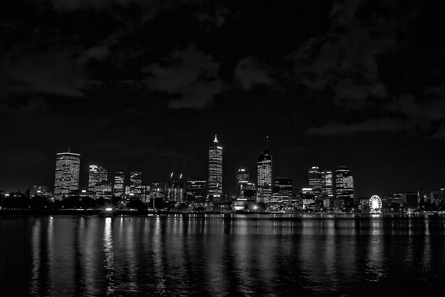 Night City Skyline Black And White Black And White City Skyline