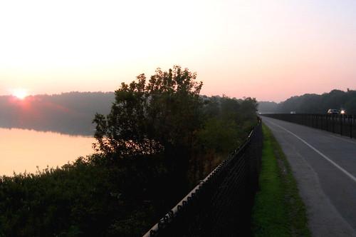 bikepath sunrise fence river highway maine brunswick route1 androscoggin