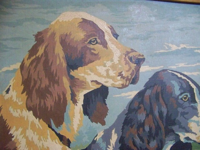 Paint By Numbers Spaniels
