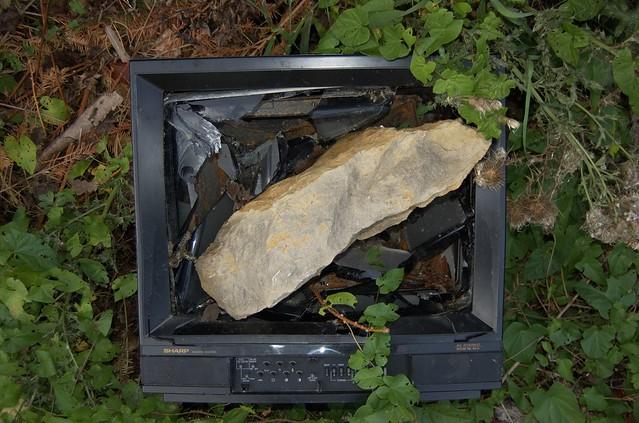 Broken TV from Flickr via Wylio