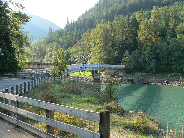 Fishing bridge at taidnapam park riffe lake flickr for Fishing bridge campground
