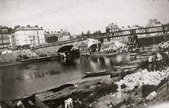 2éme bataille de la Marne - Bord de Marne à Chateau-Thierry  - Contre-Offensive  de 1918 - (photo VestPocket Kodak Marius Vasse 1891-1987)