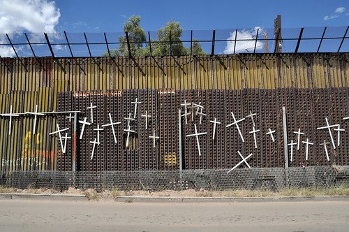 Wall of Crosses in Nogales